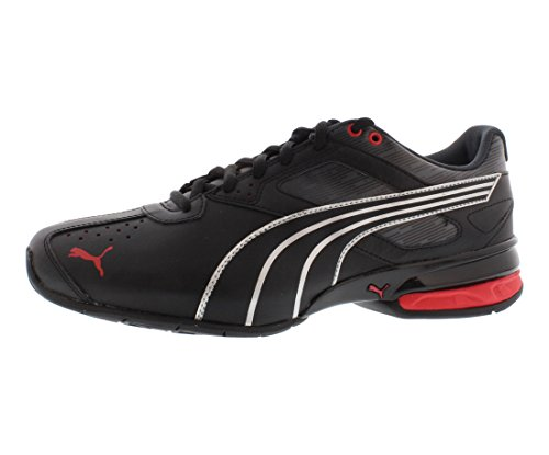 PUMA Men's Tazon 5 Glitch Cross-Training Shoe, Black/High Risk Red/Turbulence, 10 M US