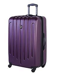 Atlantic Aero Glide Large Checked Luggage - Hardside Expandable Spinner Luggage 28-Inch, Purple