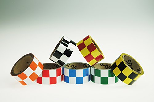 Accuform CHECKERBOARD MARKING TAPE (PTM773BKWT) by Accuform