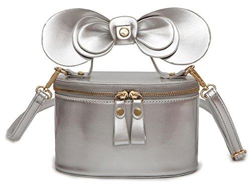 QZUnique Women's Carton Shape Shining Patent Leather Shoulder Bag Crossbody Handbag Satchel by QZUnique