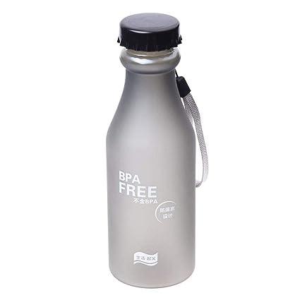 Lomire Botella del Agua 550ml Sin BPA, Cantimplora Portátil Reutilizable de Plástico para Deportes Ciclismo Viajes Acampadas Yoga