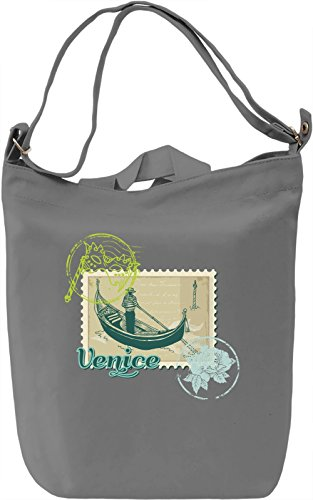 Venice Borsa Giornaliera Canvas Canvas Day Bag| 100% Premium Cotton Canvas| DTG Printing|
