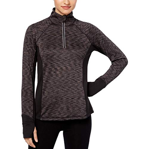 Ideology Womens Fitness Yoga 1/4 Zip Pullover Black L from Ideology