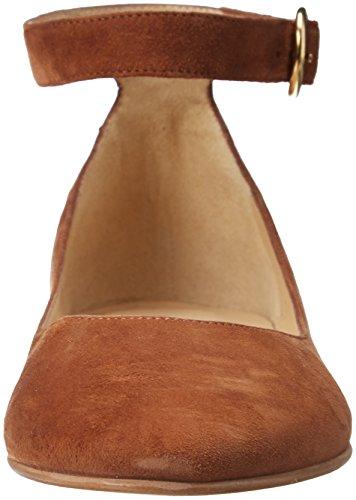 JONAK Women's Brown Strap Ballet Cognac Flats Ankle 000 Villa rrw4vqBO