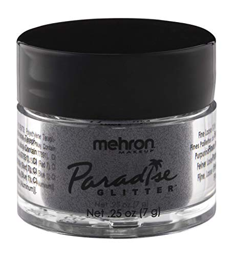 Mehron Makeup Paradise AQ Glitter Face and Body Paint with Free Mini Mixing Liquid (Black and White)