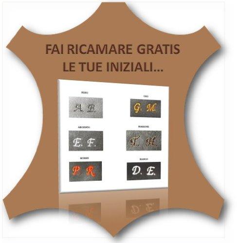 Borsello in pelle uomo artigianato italiano L18XH20XP4 cm Mod : Gio Mini black nabuk