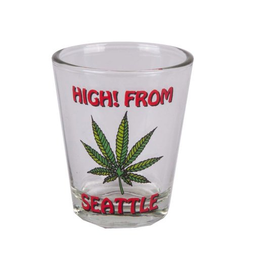 High From Seattle Shot Glass | Seattle Souvenir