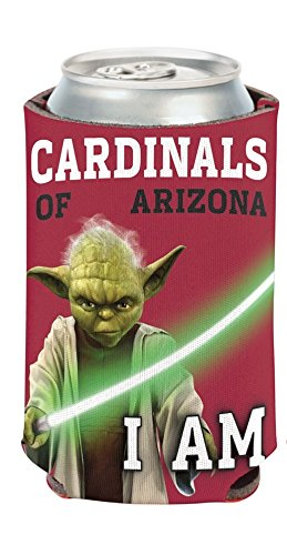 WinCraft NFL Star Wars Yoda 12 Ounce Can Coozie (Arizona Cardinals)