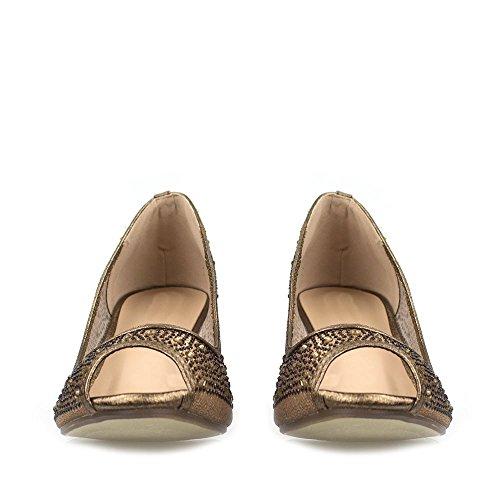 Open Très Medium Bronze À Mesh Bronze Ouvert Chaton Moyen Serena Mesh Kitten Serena Toe Diamanté En Shoe Diamanté Heel 74Ixqw5S