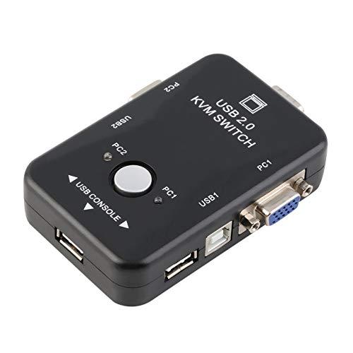 Liobaba Original Auto Controller 2 Port Hub USB 2.0 KVM SVGA VGA Switch Box Keyboard Mouse Monitor Printer Adapter Spliter