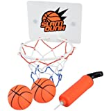 Cyfie Mini Basketball Toy, Office Desktop Bathroom Toilet Slam Dunk Game Gadget Home Gadget for Basketball Lovers Boys Girls