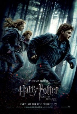 Harry Potter and the Deathly Hallows Part 1 ~ Original 27x40 Double-sided Advance Style B (3-D) Movie Poster (Harry Potter Deathly Hallows Part 1 3d)