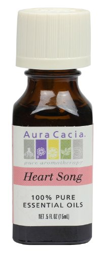 Aura Cacia Essential Oil Blend, Heart Song, 0.5 fluid ounce ()