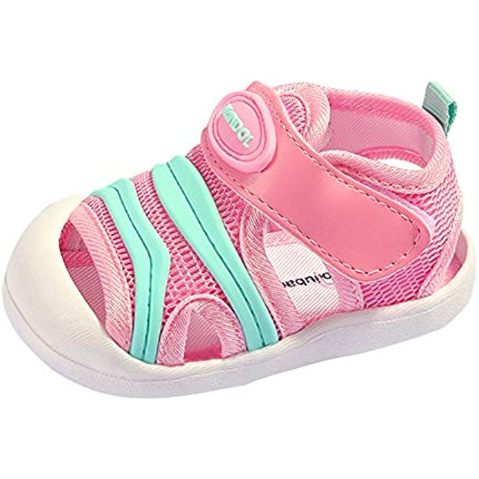 QGAKAGO Baby Breathable Mesh First Walkers Sneakers Summer Sandals Toddler Shoes for Boys Girls 6-30 Months