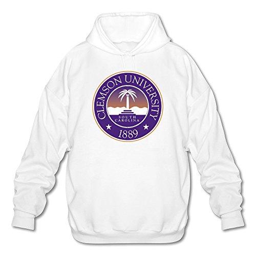 Clemson Tigers Sunshade (Tjame Men's Carolina Clemson University Classic Logo Hoodies Sweatshirt White)
