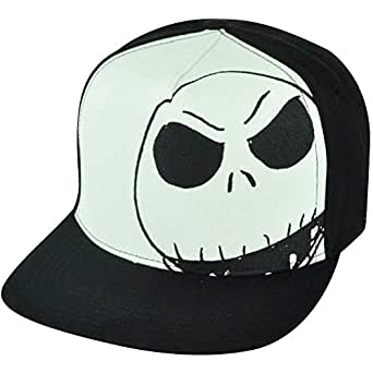 24b4f6224e206 Image Unavailable. Image not available for. Color  Nightmare Before  Christmas Jack Skellington Moon Brim Hat Cap