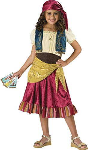 InCharacter Costumes, LLC Girls 2-6X Gypsy Dress Set, Multi Color, Small -