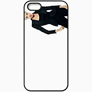 Personalized iPhone 5 5S Cell phone Case/Cover Skin Angelina Jolie Black
