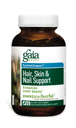 Gaia Herbs Hair, Skin and Nail Support Liquid Phyto Capsules, 60 Count