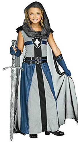 Girl's Knight Costume Child Warrior Costume (8-10) -