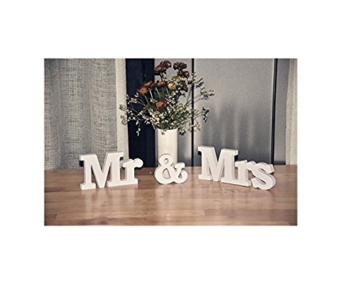 Mr and Mrs Wooden Letters Wedding Decoration/Present