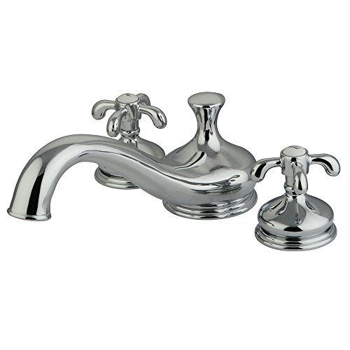 Kingston Brass KS3331TX French Country Deck Mount Roman Tub Filler, Polished - Deck Country Mount Brass