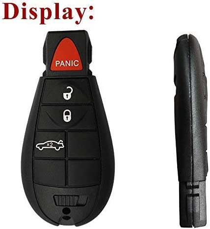 SaverRemote 4 Button Key Fob Compatible for 2008-2010 Chrysler 300 2008-2012 Dodge Challenger/&Charger