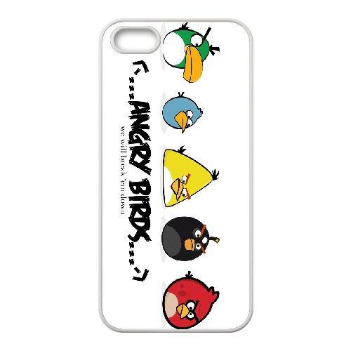 Angry 004 coque iPhone 5 5s cellulaire cas coque de téléphone cas blanche couverture de téléphone portable EEEXLKNBC26687