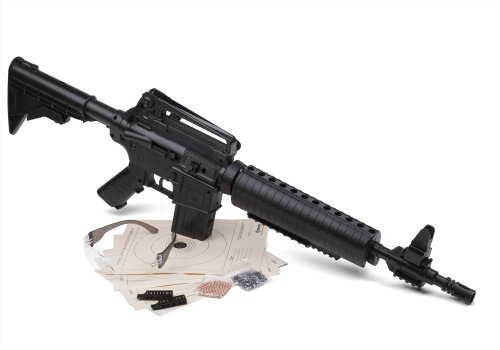Crosman M4-177 Tactical Style Pneumatic Multi-Pump BB and Pellet Rifle (Rifled Barrel Kit)