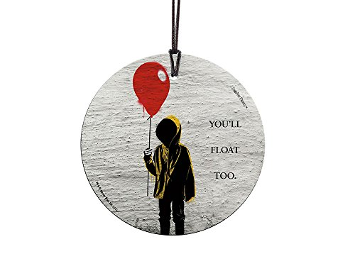 Trend Setters IT The Movie You'll Float Too Starfire Prints Hanging Glass