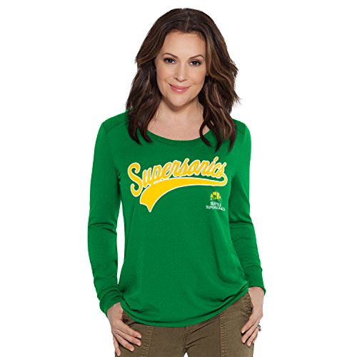 no NBA Seattle SuperSonics Adult Women Redzone Top, X-Large, Green ()