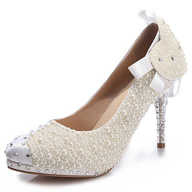 5 Novelty Leather 5 Heel EU39 Zormey amp;Amp; Cn37 Heels Heel Uk4 Evening Party Women'S Winter Crystal 5 Stiletto Eu37 US8 7 Us6 Comfort Crystal Bowknot Pearl Spring Fall CN39 UK6 Wedding Summer Beige ap0BxAnp8