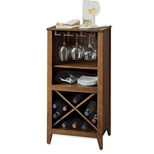 Long Valley No Tools Wine Bar (Walnut) by Generic