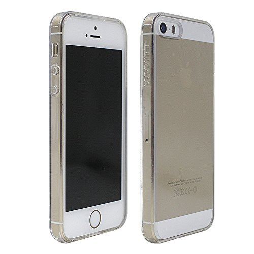 Luvvit Clearview Slim Clear Back Case with Bumper Cover for iPhone 5 / 5S