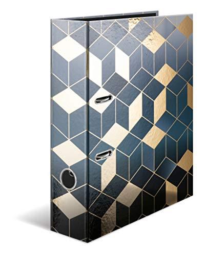 HERMA 7056 - Archivador de anillas (DIN A4, 7 cm de ancho, cartón resistente con acabado de lámina, carpeta de anillas, archivador, briefordner, 1 carpeta