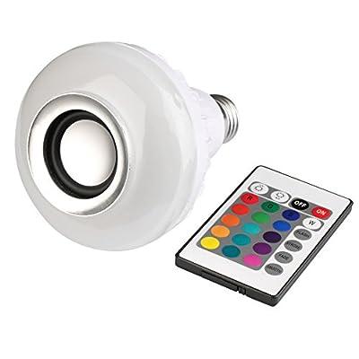 Homedeco LED RGB Color Bulb Light E27 Bluetooth Control Smart Music Audio Speaker Lamps 12 Color