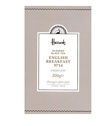 Harrods London. No. 14 English Breakfast, Loose Leaf Tea 200g (1 Pack) NEW RANGE Seller Product Id HEB2 - USA Stock