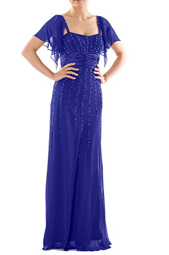 Party Formal Wedding Mother Blue of Sleeves Bride MACloth Dress the Women Royal Long Gown 0zW8Z8g