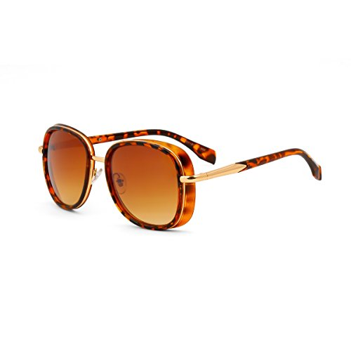 Royal Son UV Protected Square Women Sunglasses (WHAT3580|58|Brown Lens)