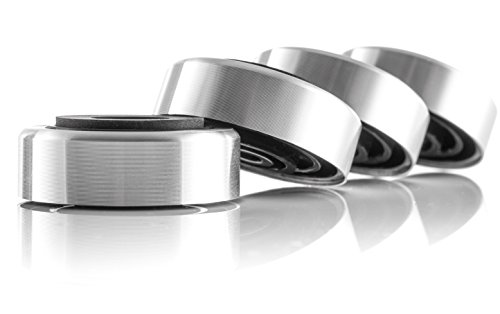 Hifi Lab Aluminium-Füße 30x11 silber Audio Geräte Füße Alu 4x Absorber