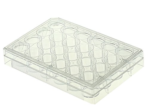 Plates Culture Cell (Nest Scientific 702011 Polystyrene 24 Well Cell Culture Plate, Flat Bottom, Non-Treated, Sterile, Clear, 1 per Pack, 50 per Case (Pack of 50))