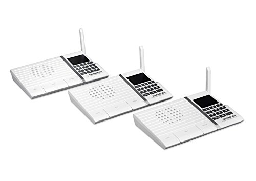 Samcom 20-Channel Digital FM Wireless Intercom System for Home and Office White Pack of 3