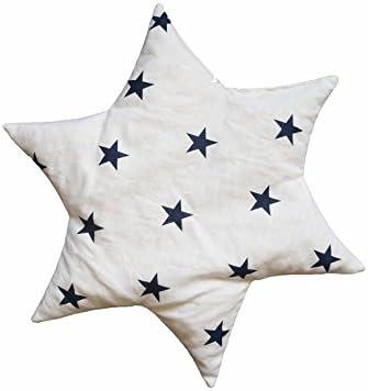 motif /étoiles Linden 36156/Coussin en noyaux de cerise Forme /étoile blanc