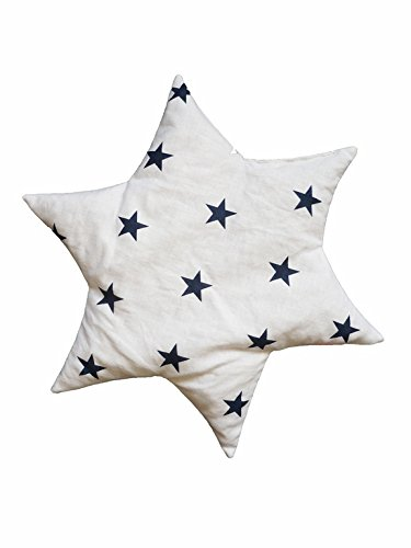 Linden 36156 Cherry Pit Pillow Star Design Stars White