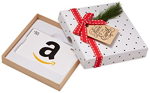 Holiday Gift Card (Amazon.com $50 Gift Card in a Holiday Sprig Box (Classic White Card)