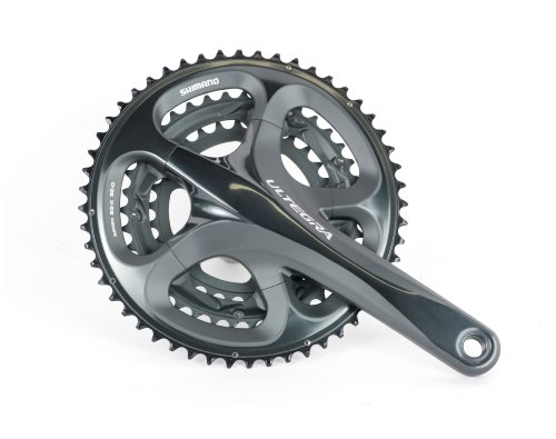 Shimano FC-6703 Ultegra Triple Crankset (Ice Grey, 172.5-mm 52/39/30T 10 Speed) - Shimano Ultegra Triple