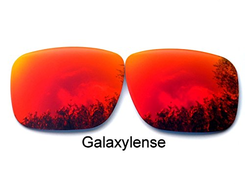 Galaxy Replacement Lenses for Oakley Holbrook Fire Red Color - Red Holbrook