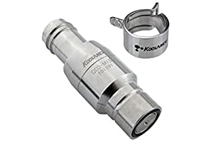 Koolance QD3 Male Quick Disconnect No-Spill Coupling, Barb for ID 13mm (1/2in) - liquid cooling system coupler