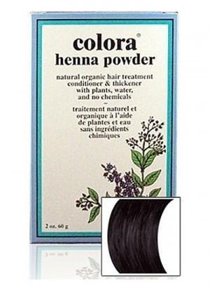 - Natural Henna Hair Coloring Powder, Black; 2oz