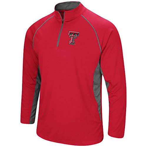 (Colosseum Men's NCAA-Rival-1/4 Zip Pullover-Texas Tech Red Raiders-Scarlet-XXL)